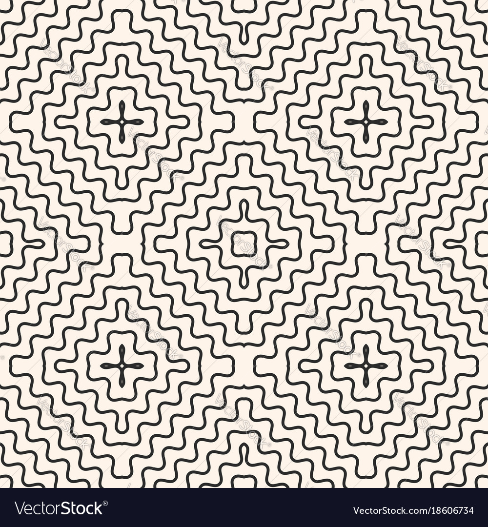 Seamless pattern with rounded wavy lines