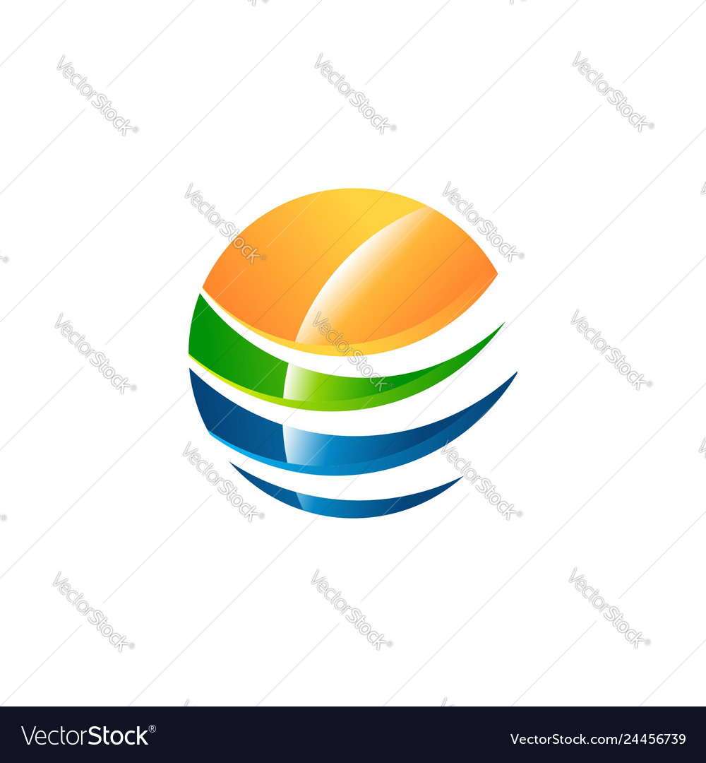 Abstract sphere logo symbol icon design