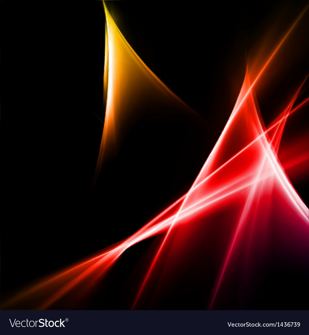 Abstract Yellow And Red Rays Lights