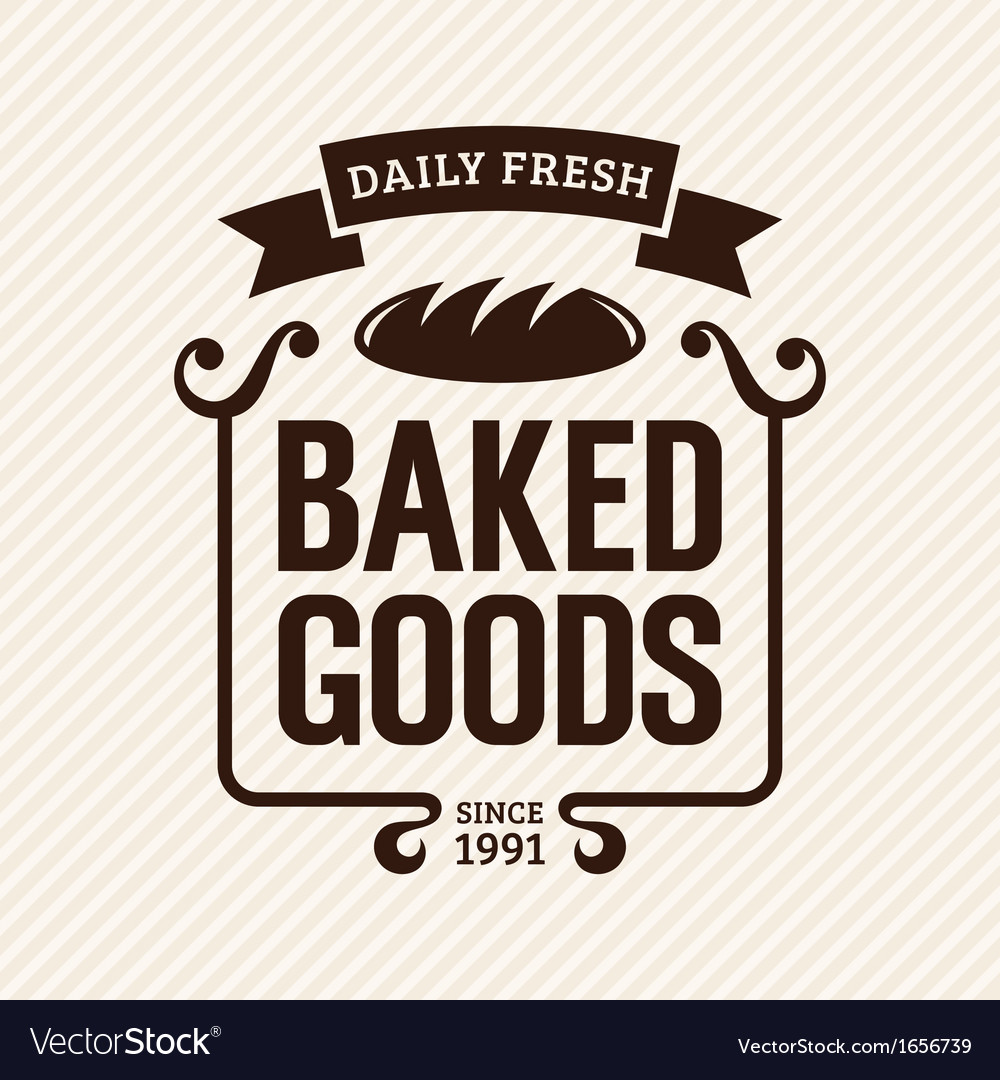 Baked Goods vector image