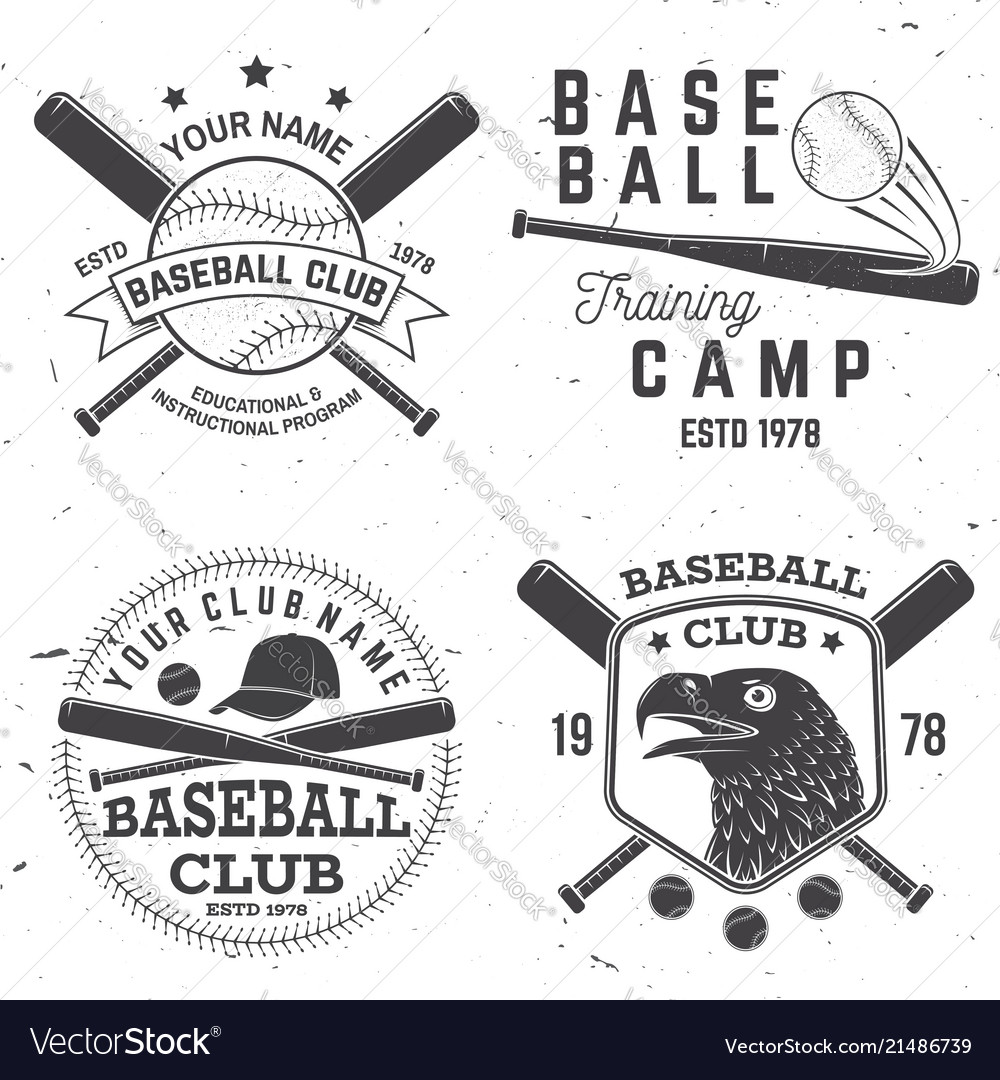 Baseball club badge concept
