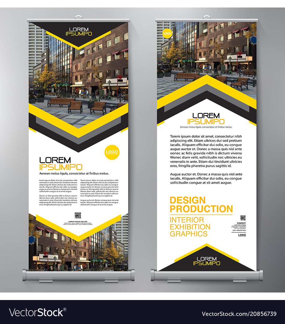 Business roll up standee design banner template