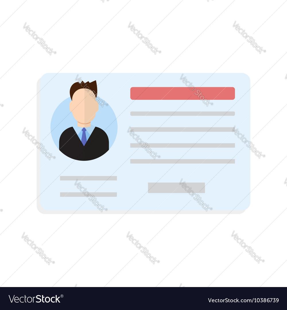 Car driver license man vector image