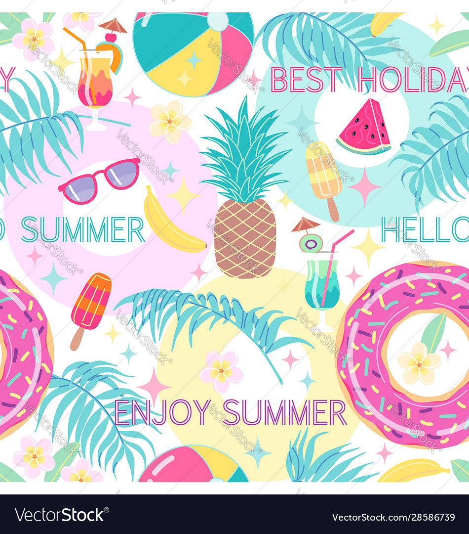 Colorful summetime seamless pattern