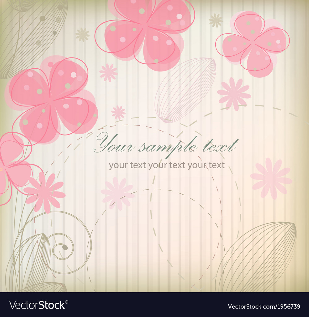 Floral Retro Vintage Wallpaper Royalty Free Vector Image