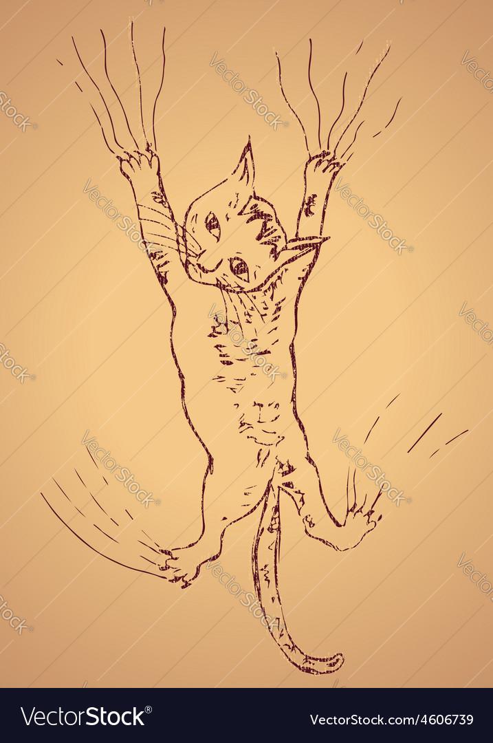 Kitten Scratching Sketch2