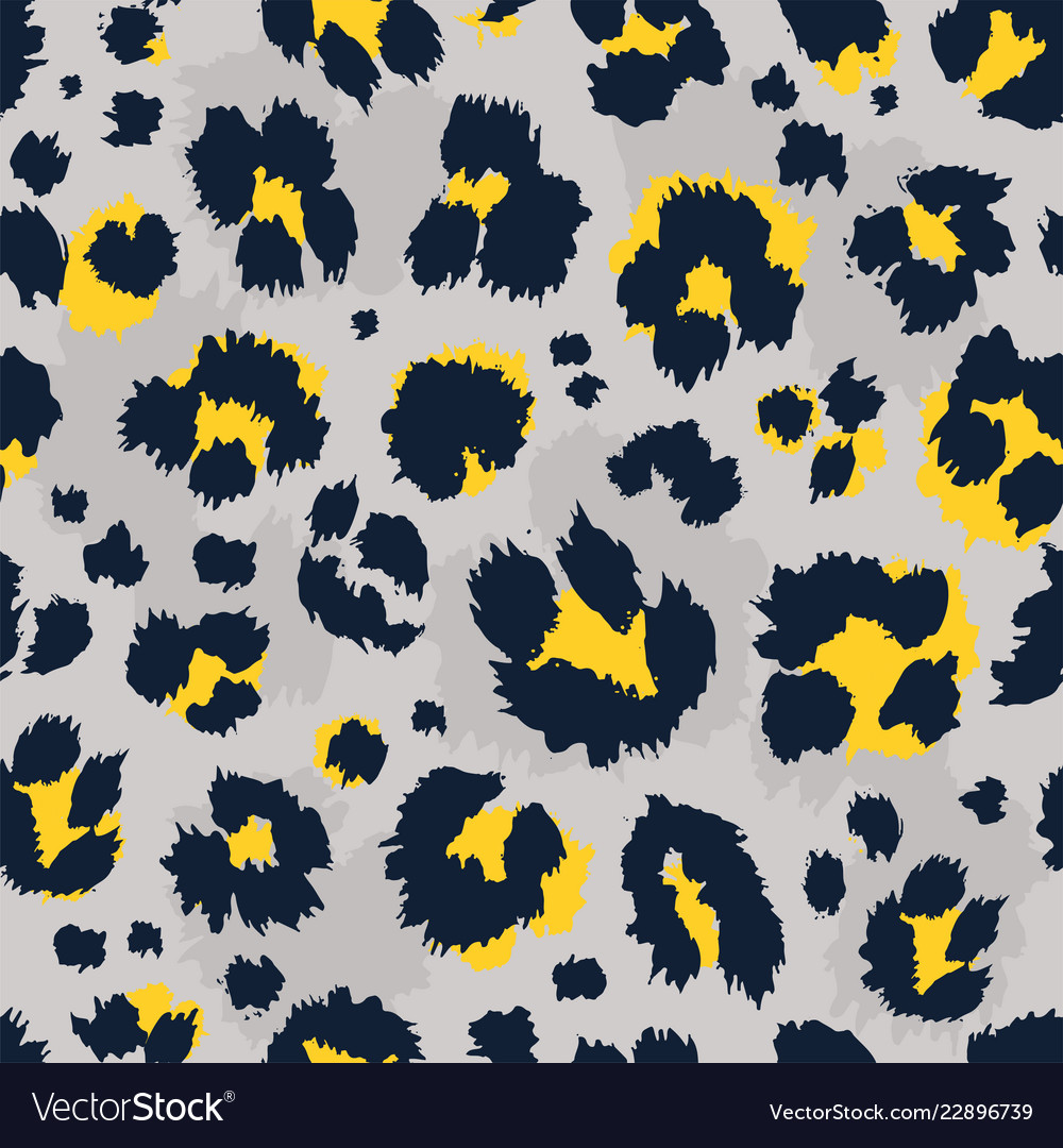 Leopard pattern design funny drawing seamless