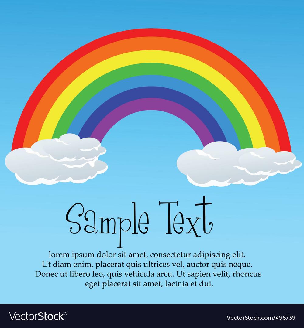 Rainbow card vector image