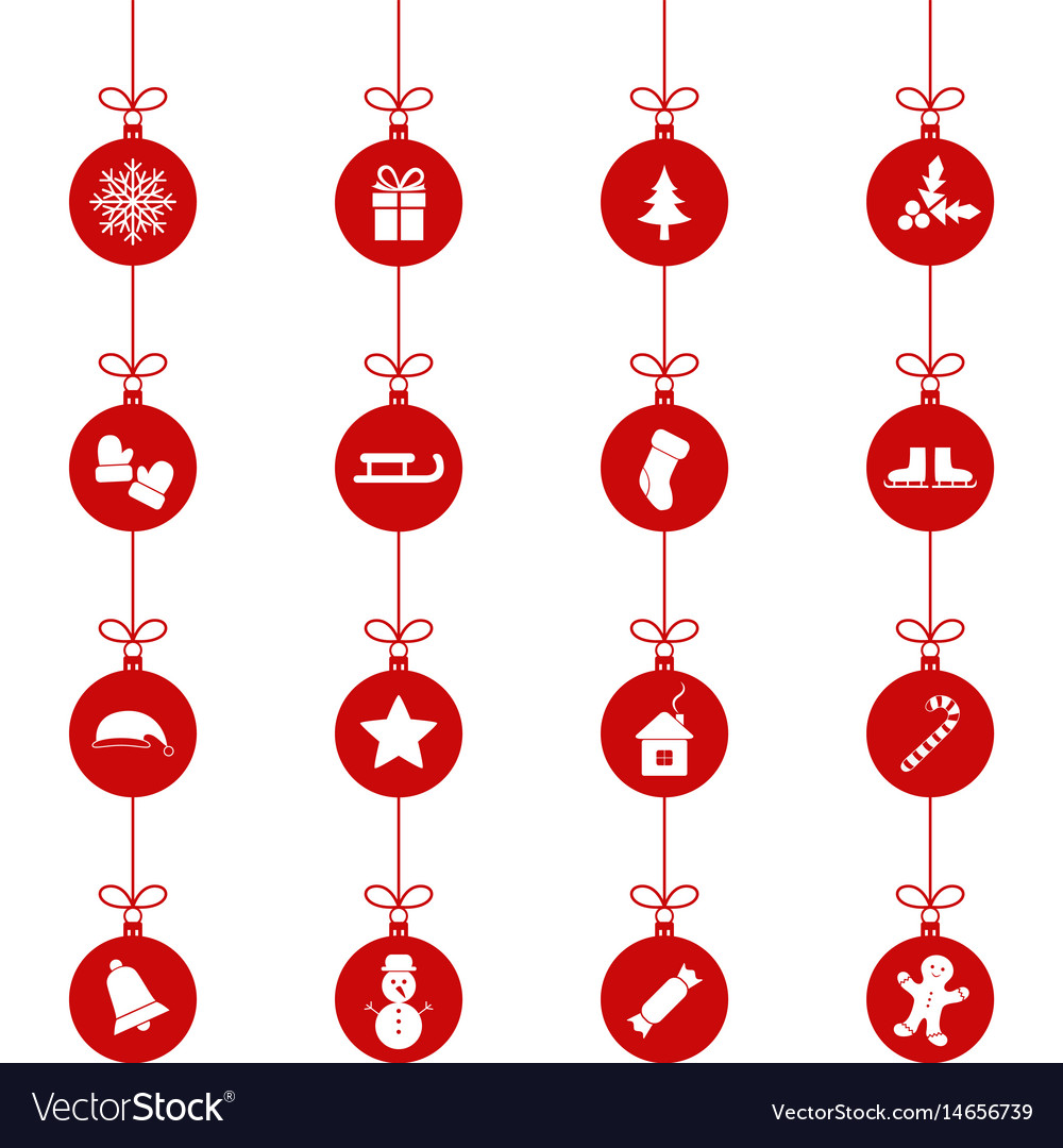 set of christmas toys vector image - Sign Up For Free Christmas Toys
