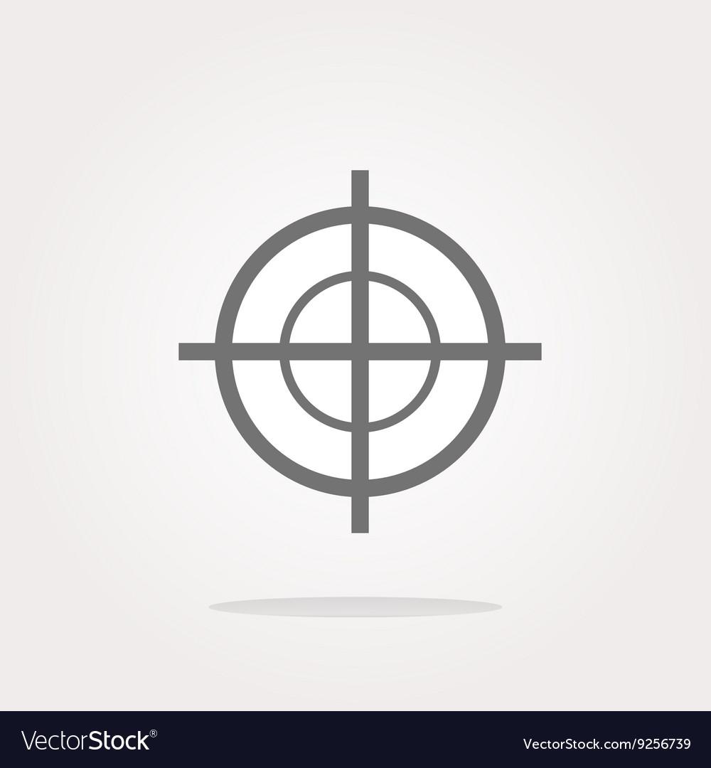 Target icon isolated on white background