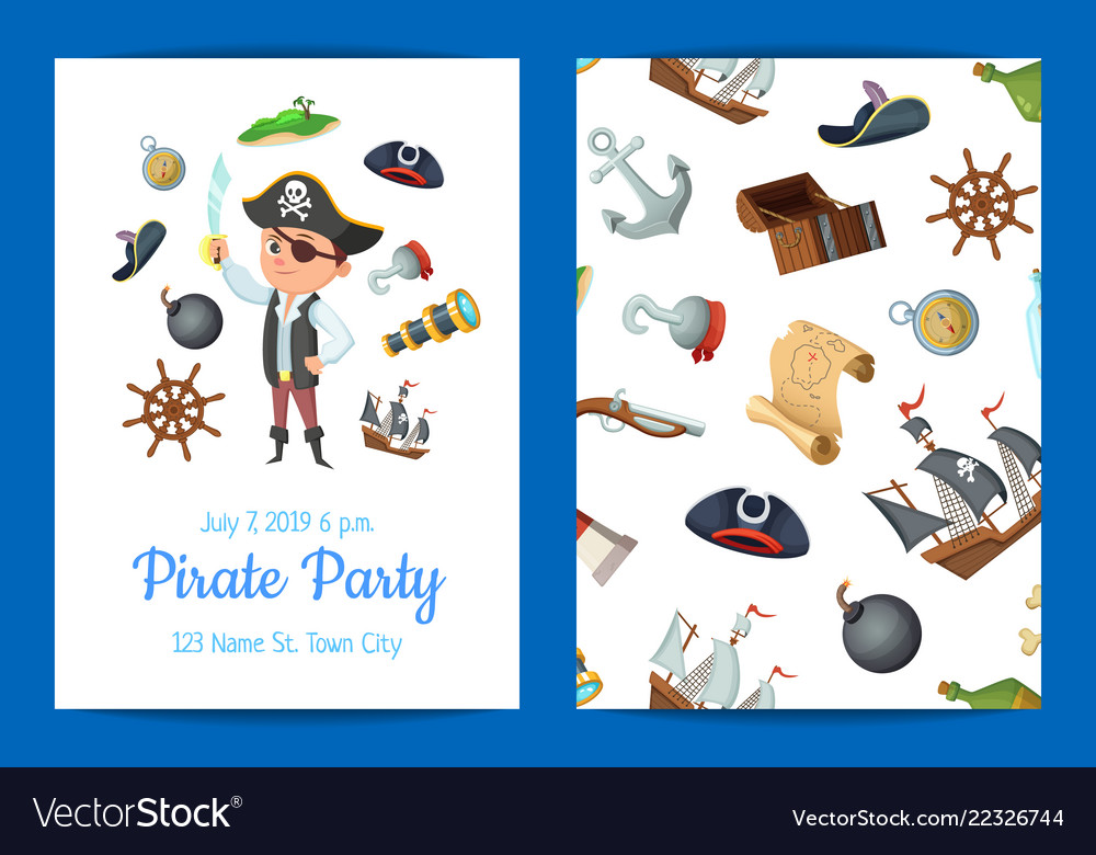 Cartoon sea pirates birthday party