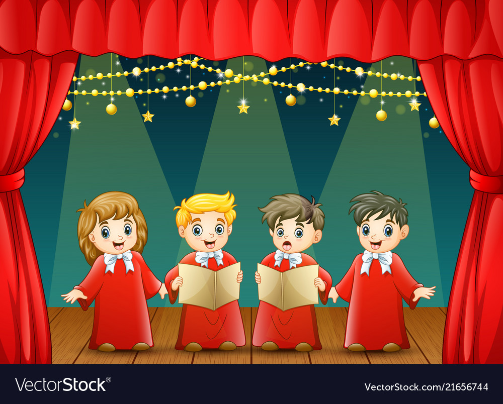 Children choir performing o