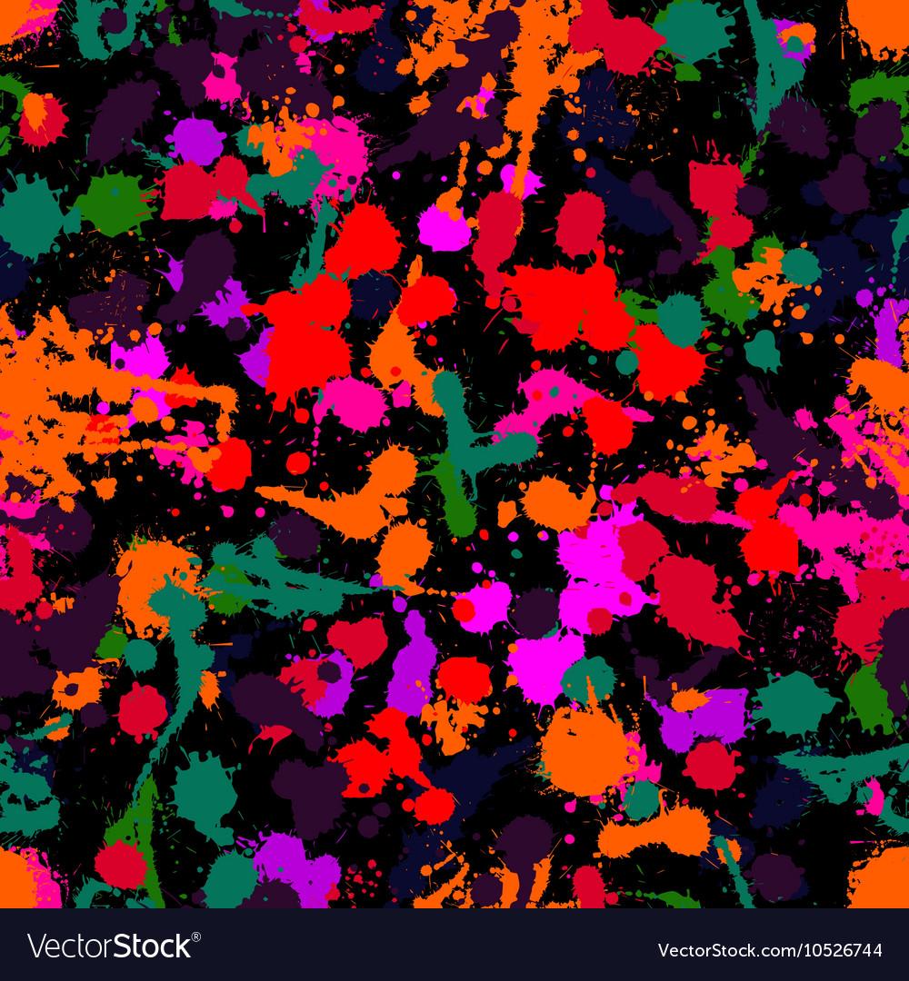 Ink pattern blotsBlack blot on a white vector image