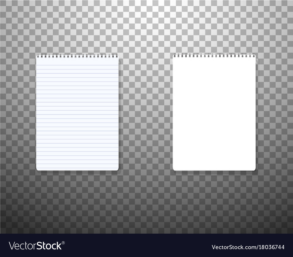 Realistic blank textbook icon notepad template