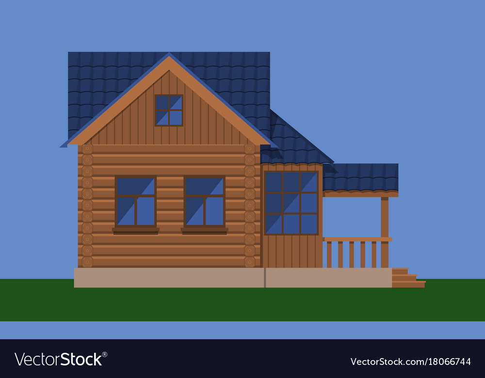 Attic And Porch Royalty Free Vector Image
