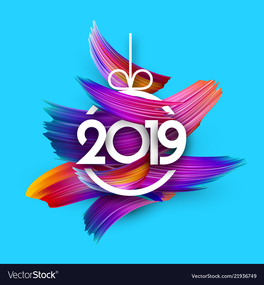 2019 new year festive background with colorful