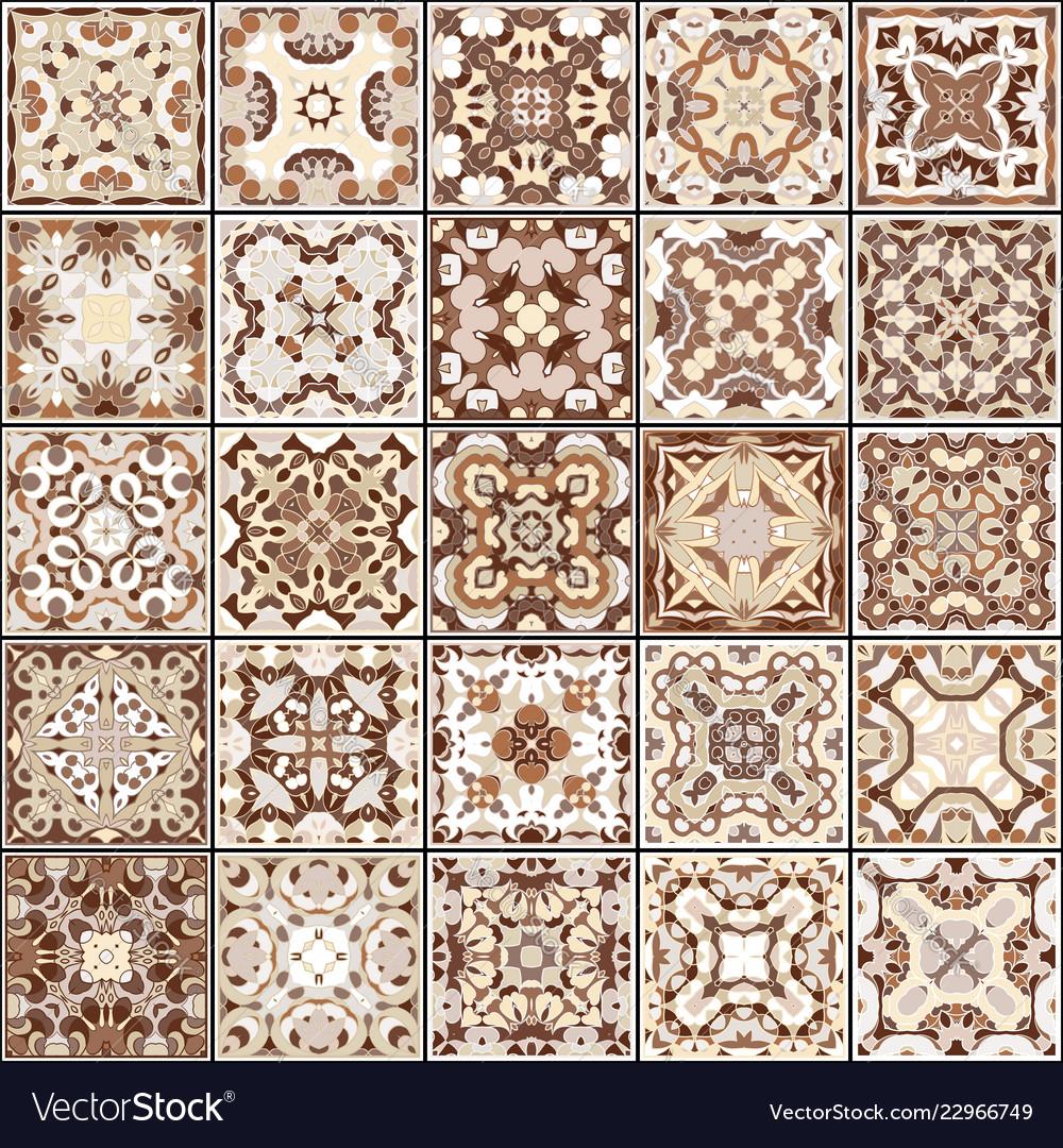 Ceramic Tiles In Brown Colors Vector Image