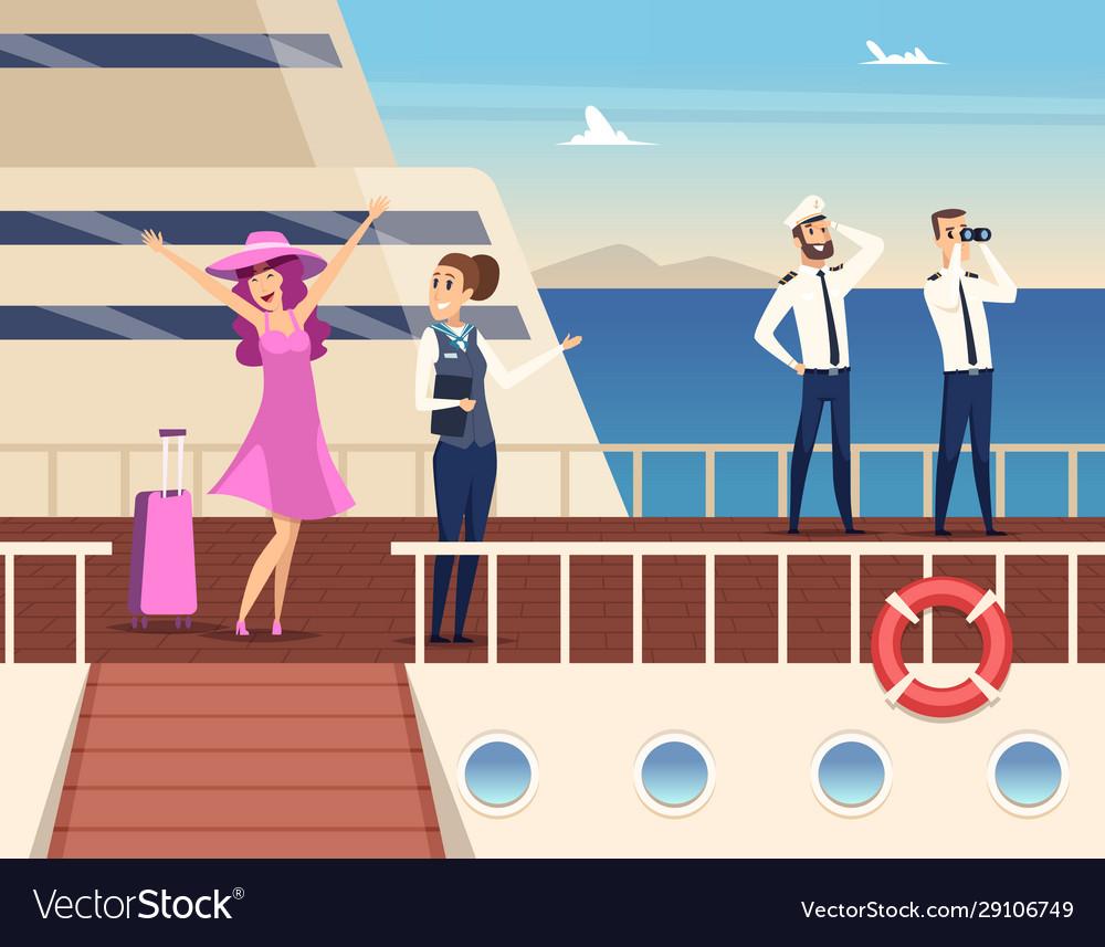 Captain on sea ship sailor cruise team boat