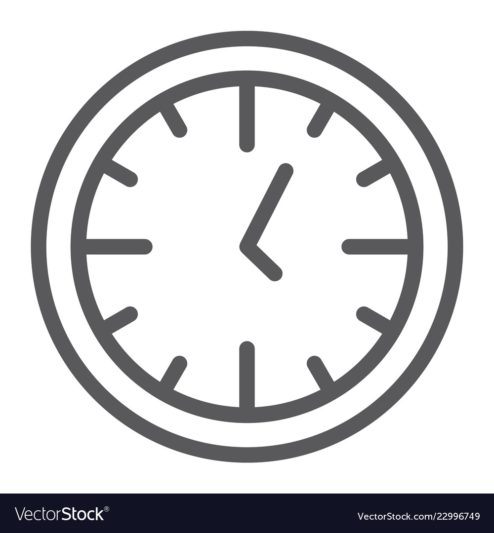 Clock line icon time and dial watch sign