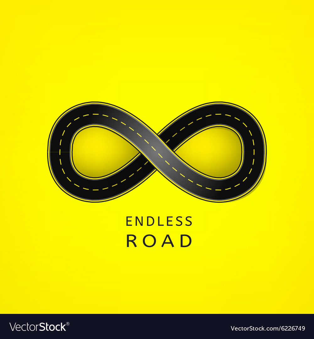 Endless road 03 A vector image