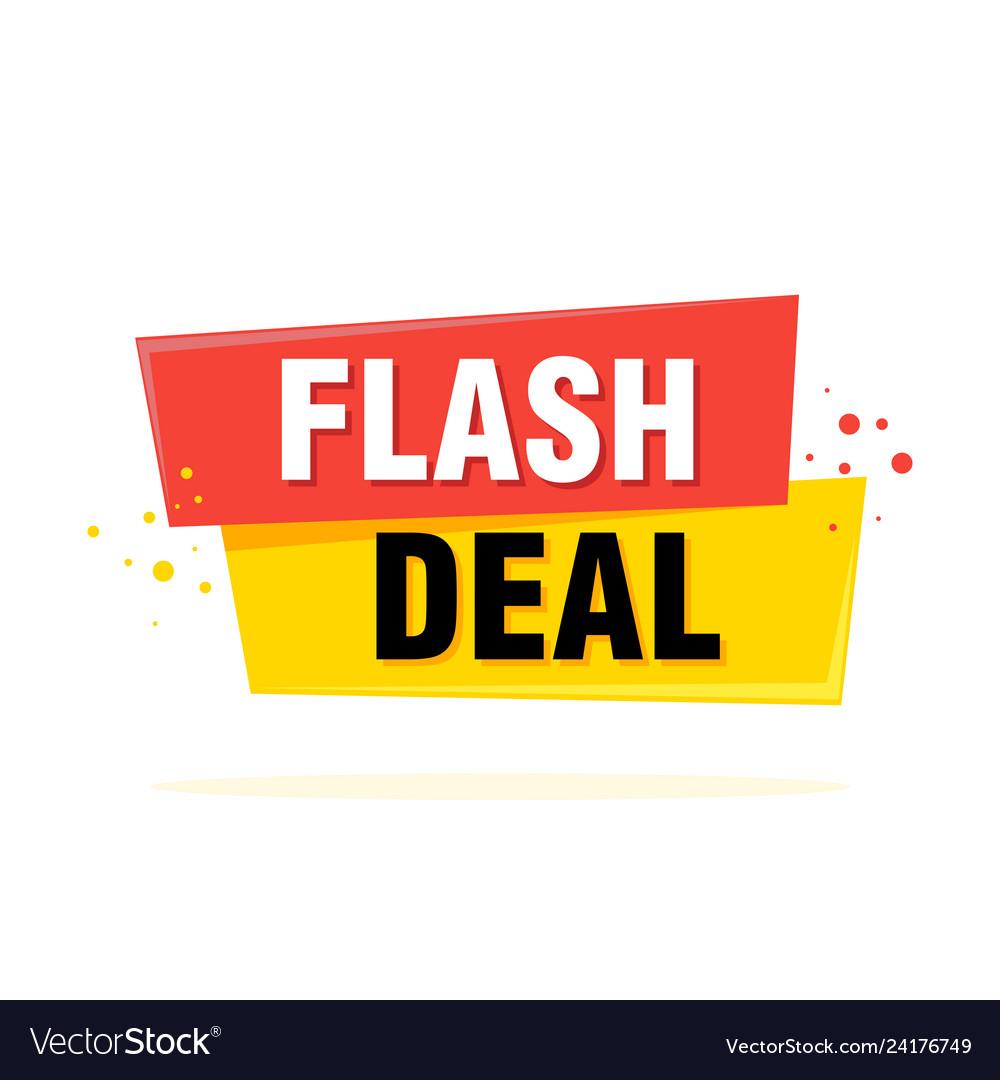 Flash sale tag banner design template app icon