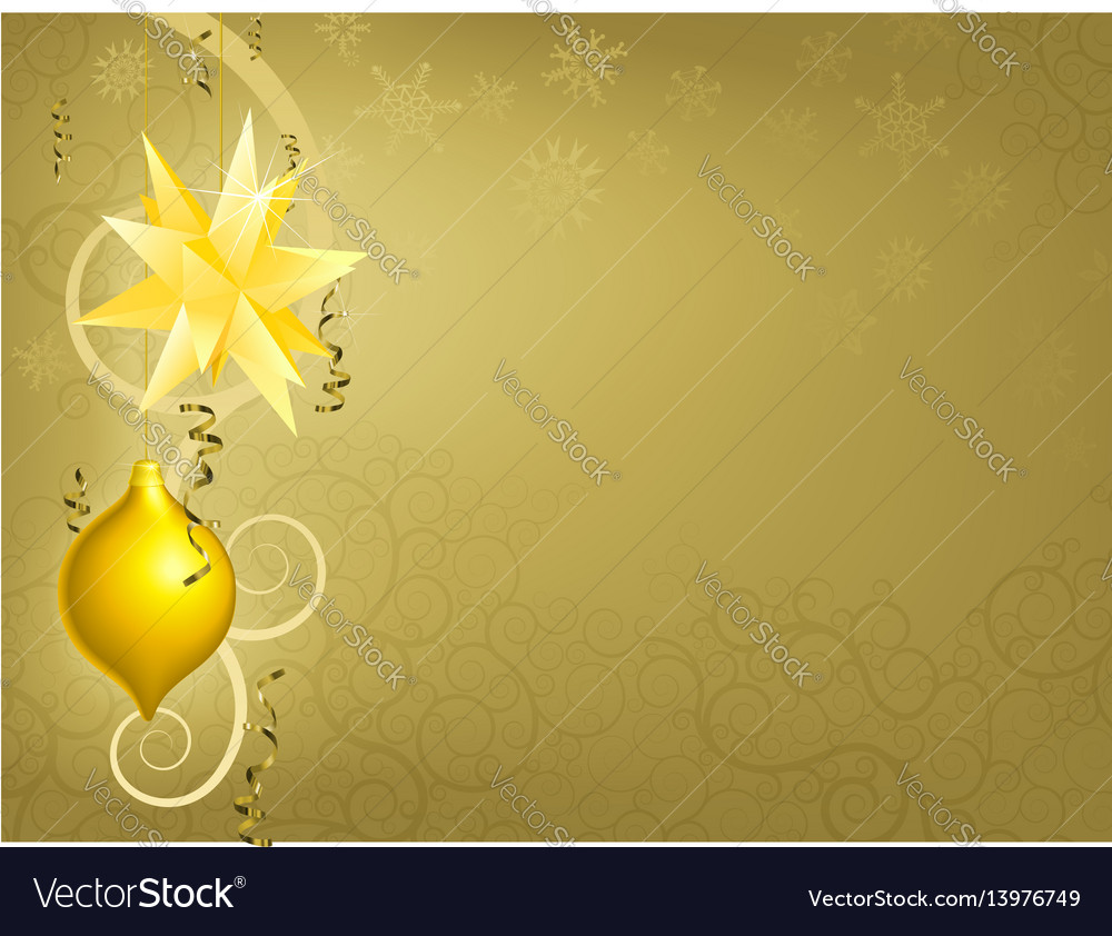 Gold christmas ornament background