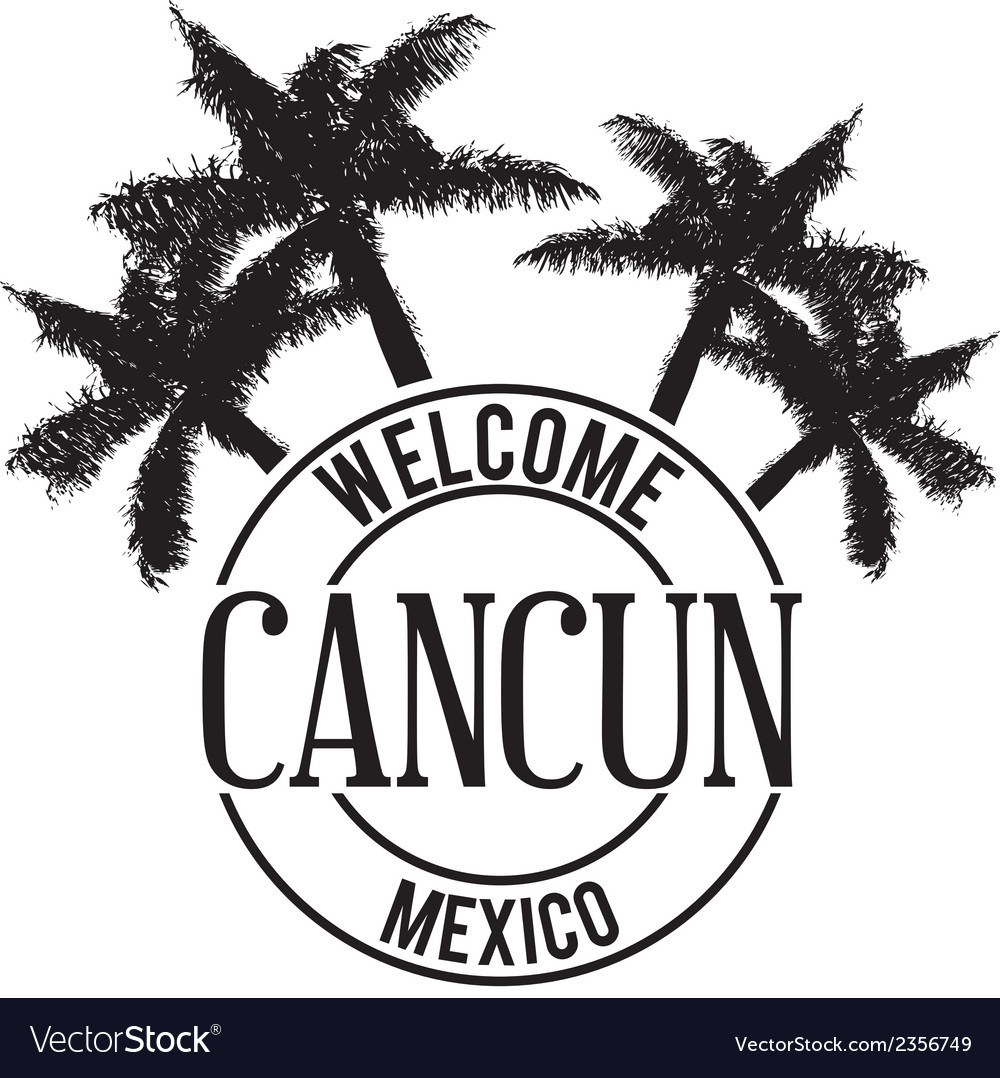 Mexican Cancun Vector Images 30