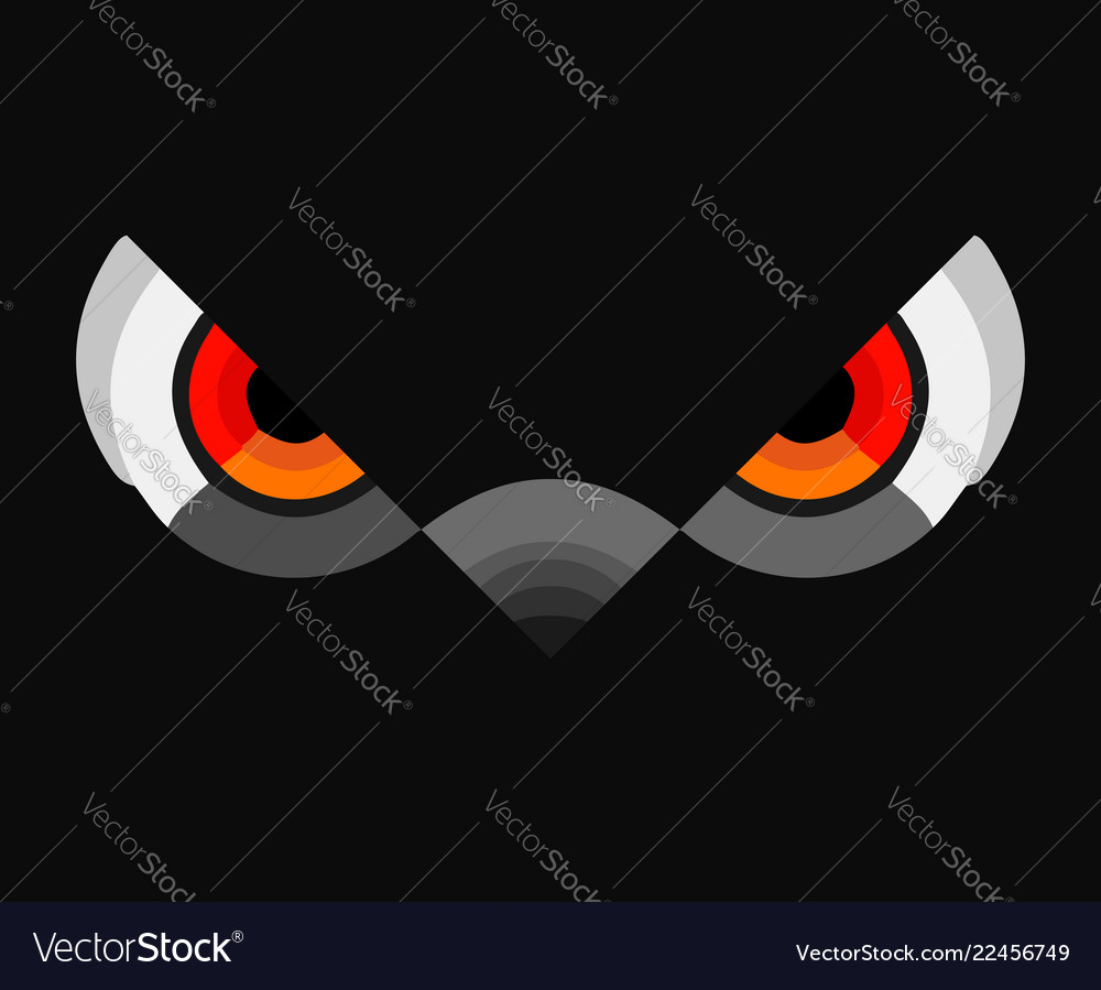 Owl colorful eyes logo