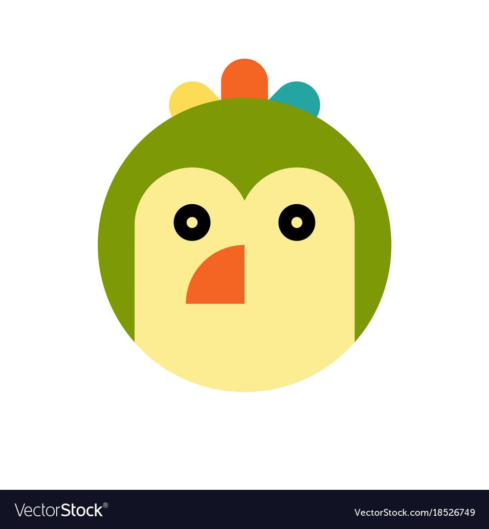 Parrot cartoon animal head
