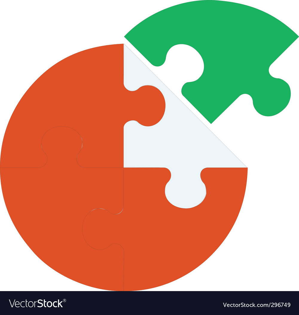 puzzle piece royalty free vector image vectorstock rh vectorstock com puzzle piece vector download puzzle piece vector image