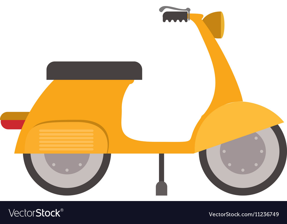 Scooter vehicle icon vector image