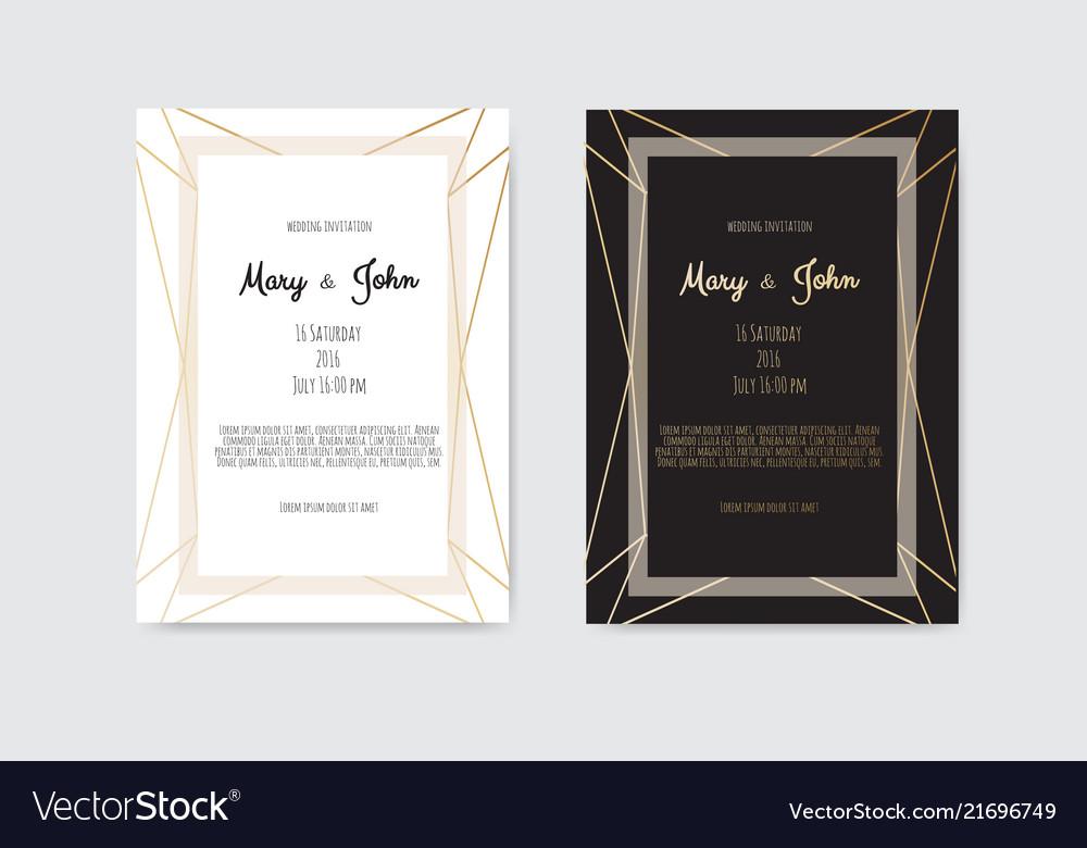 Wedding invitation invite card design with