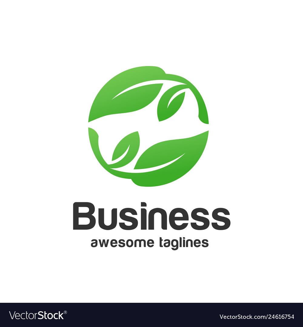 Abstract organic leaf logo