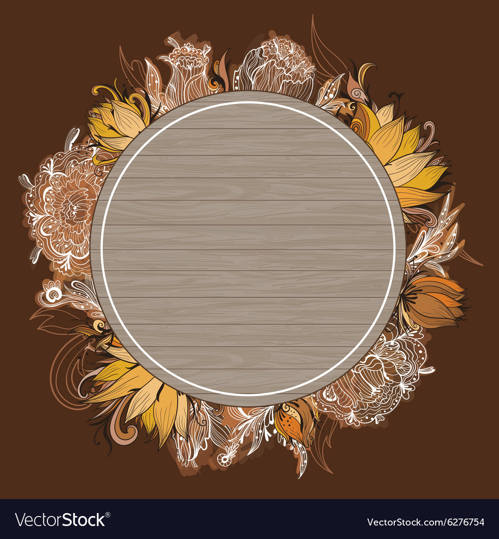 Fall Floral Frame