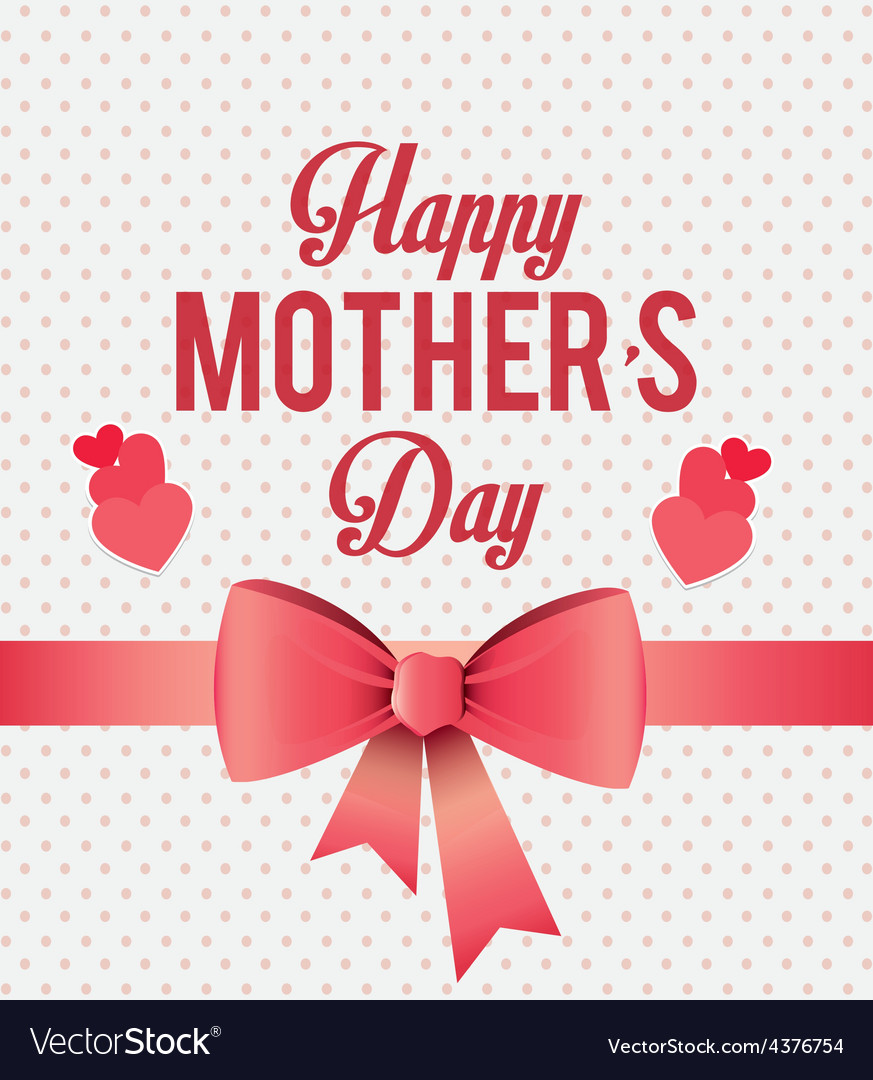 Hy Mothers Day Card Design Vector Image