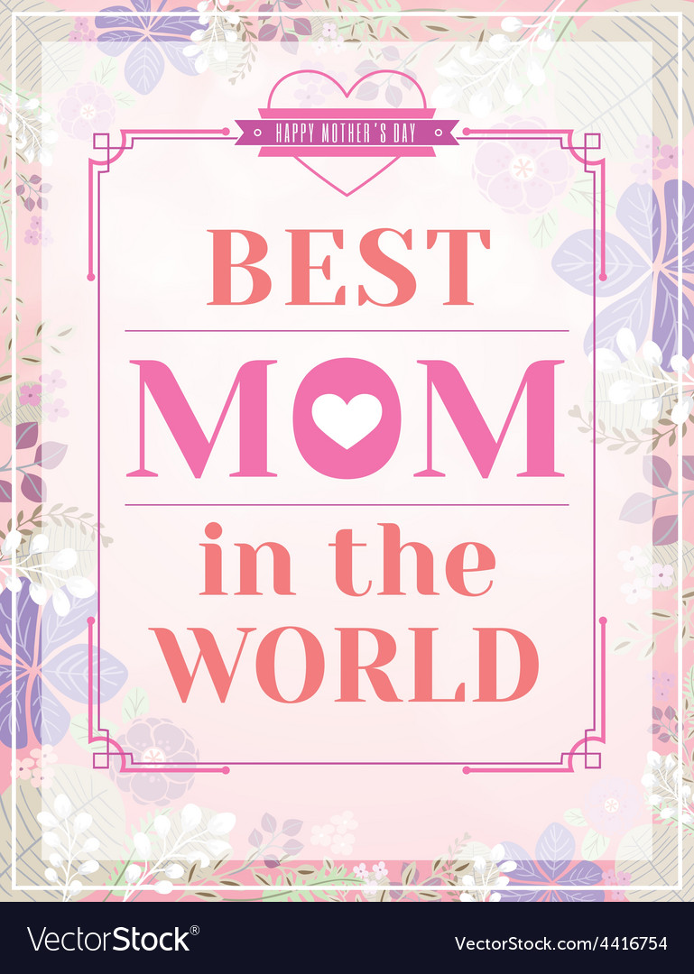 Happy mothers day design on pink floral background