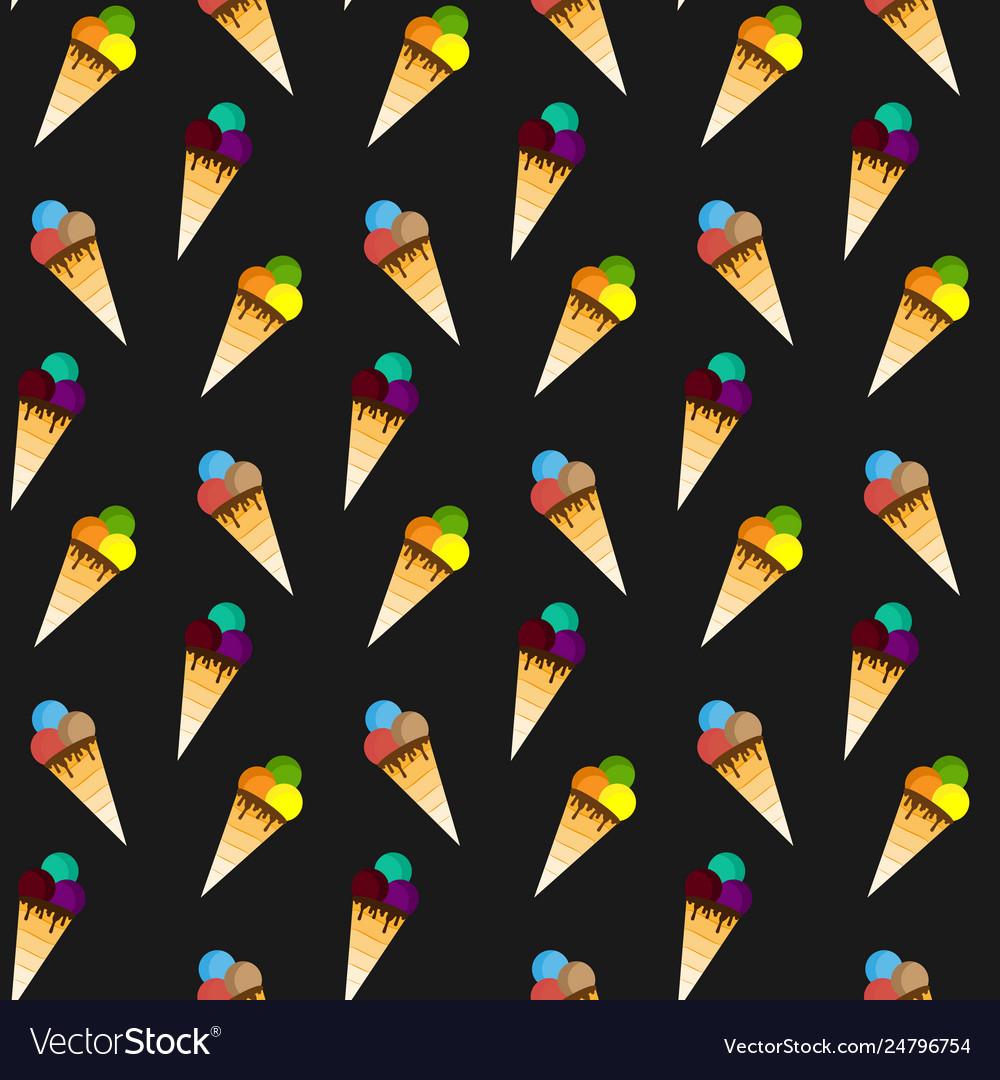 Ice cream pattern seamless pattern