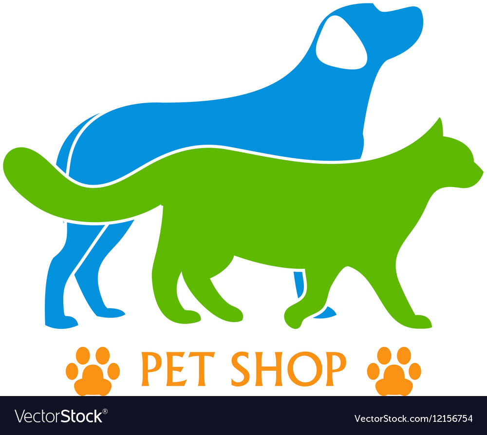 Logo design template for pet shops and veterinary