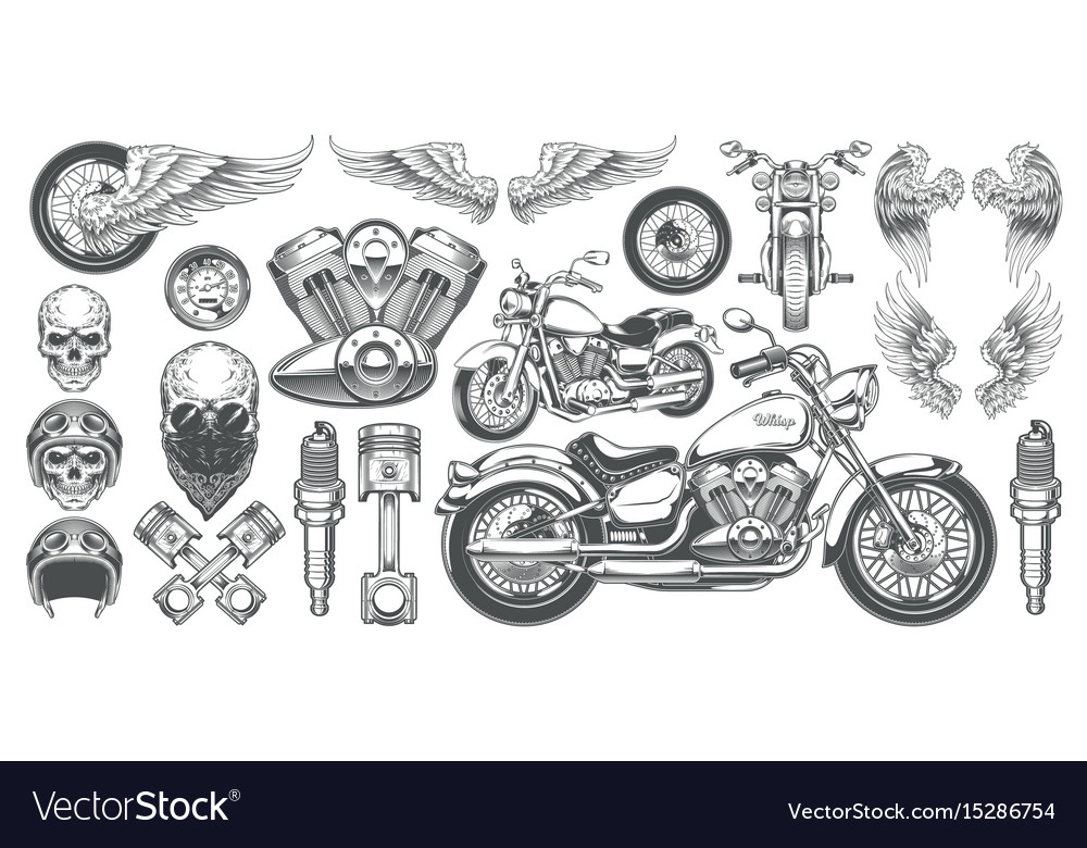 Set of icons of vintage