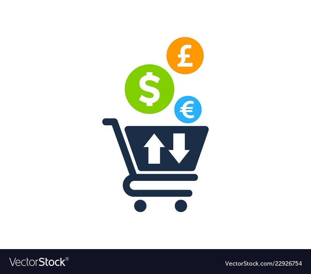 Shop stock market business logo icon design Vector Image