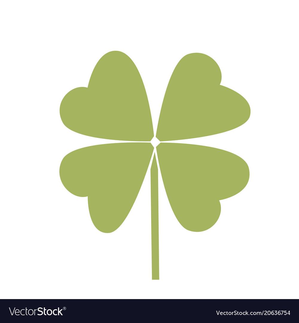 Simple Symbol Of Clover Leaf Green Leaf Royalty Free Vector