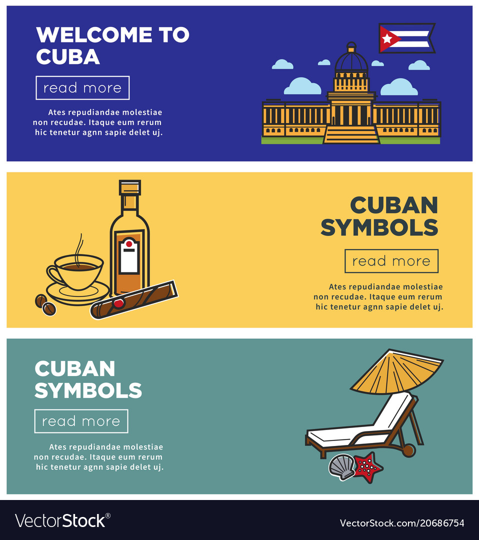 Welcome to cuba internet promo pages templates set