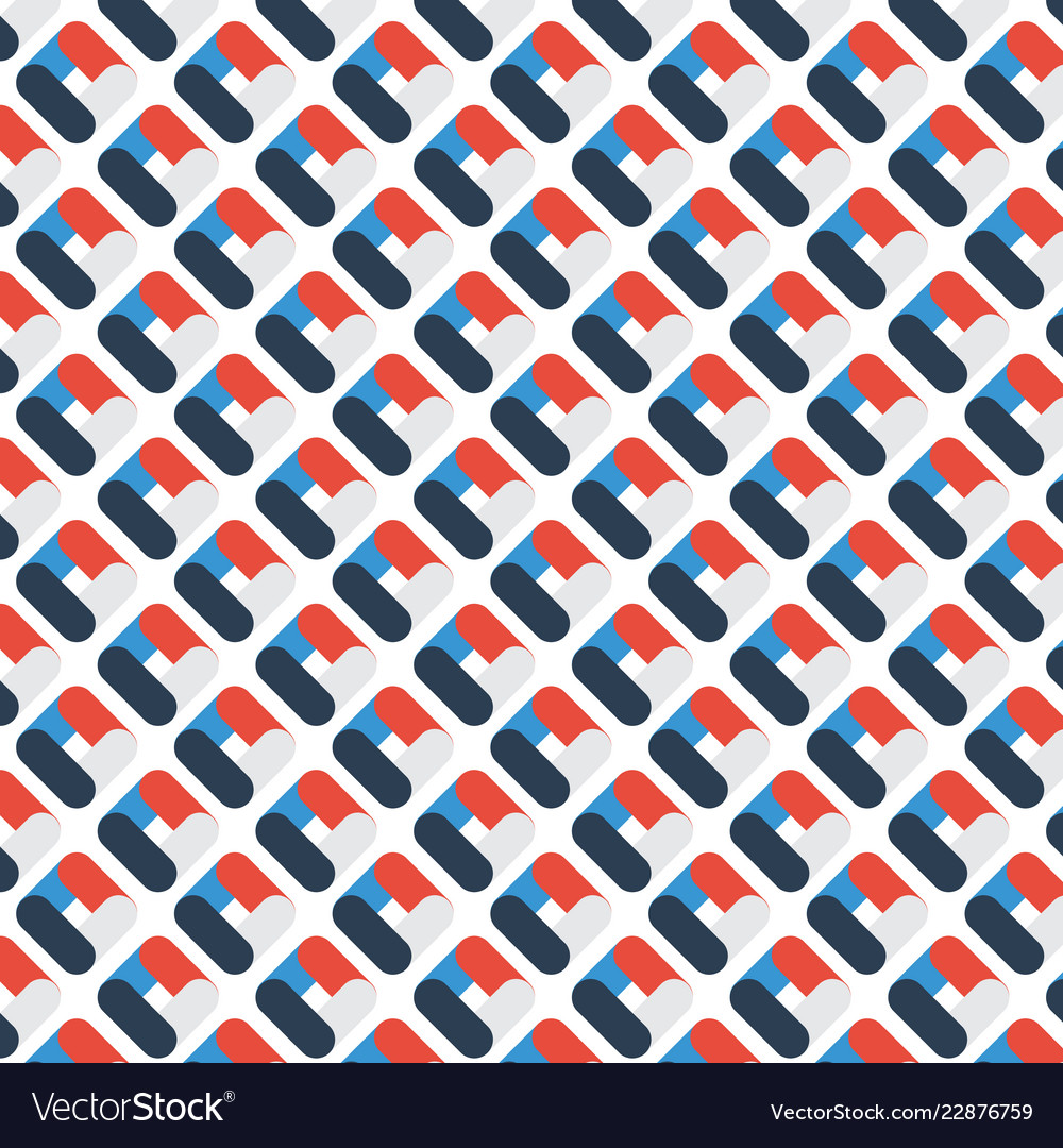 Abstract geometric rounded pattern overlapping
