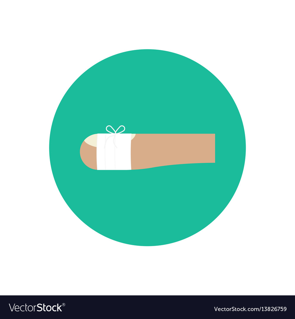Bandaged wound on the finger vector image