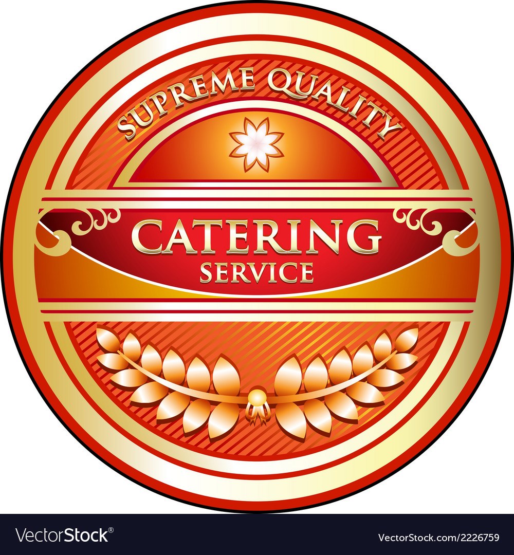 Catering Service Label
