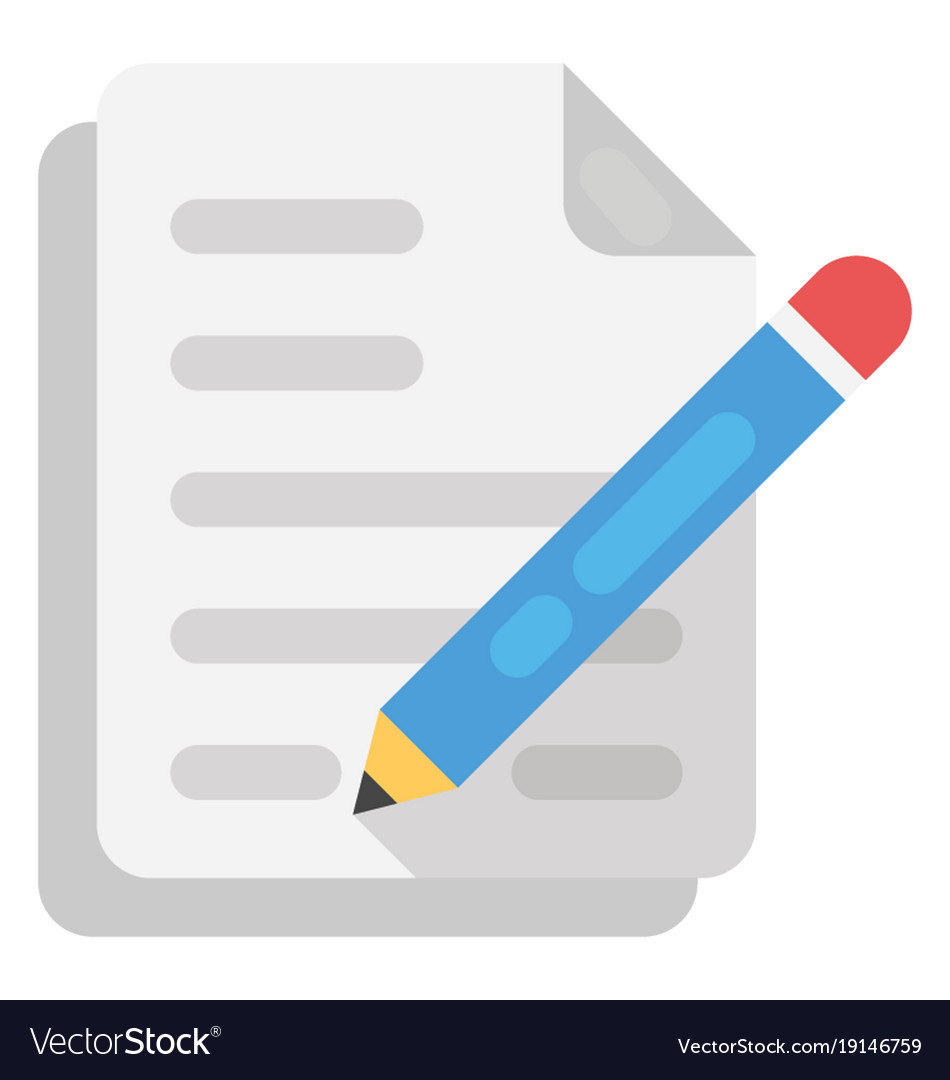 Content writing flat icon