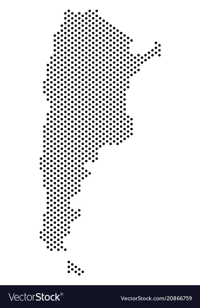 Dotted argentina map Royalty Free Vector Image