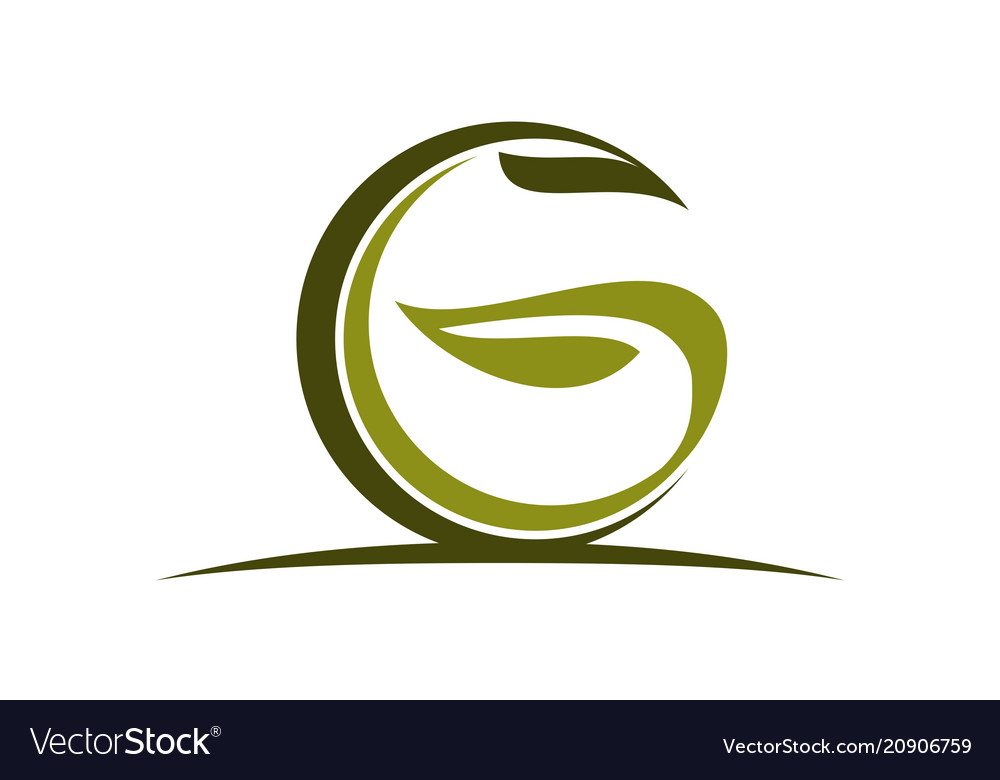 Letter g green eco