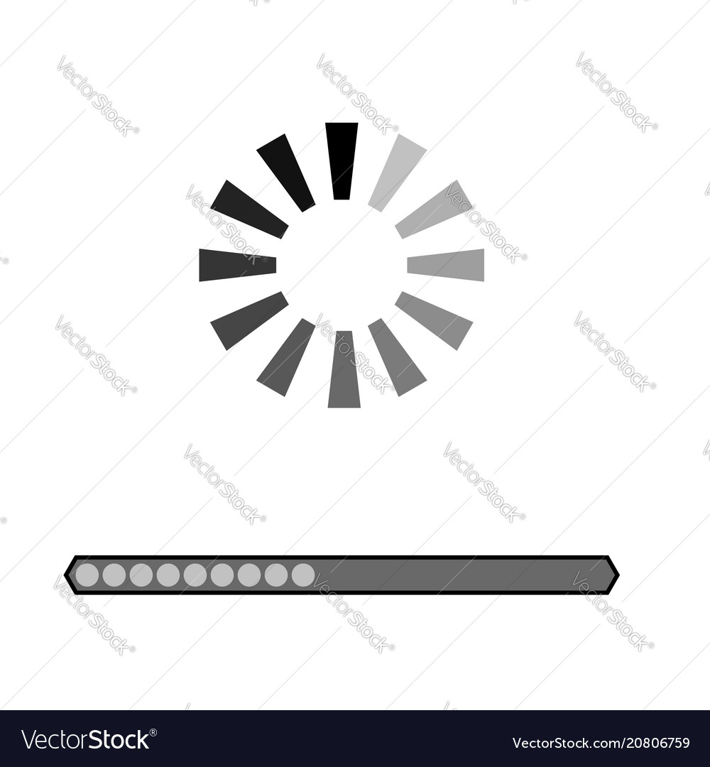 Loading grey icon vector image