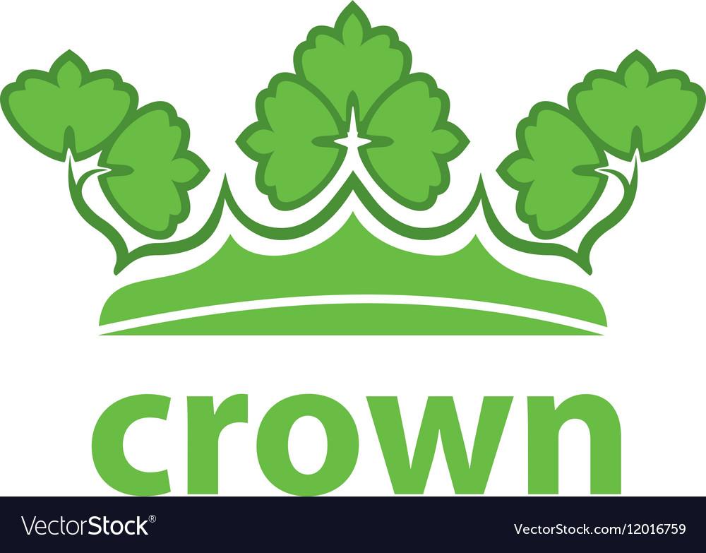 Logo crown vector image